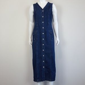 Vintage Denim Jumper Maxi Dress